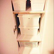 収納整理部/収納/収納ボックス/収納スペース/子供と暮らす/ピータッチ…などのインテリア実例