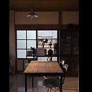 モールガラス/古い家具のお手入れ/古物リペア/リノベーション/昭和レトロ/漆喰壁…などのインテリア実例