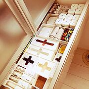 キッチン収納/100均/モノトーン/白黒/RCの家/3階建て…などのインテリア実例