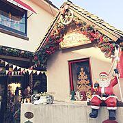 ガーランドフラッグ/観葉植物/雑貨/ナチュラル/ガーデニング/クリスマスショップ風…などのインテリア実例
