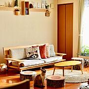 ニトリ/ナチュラルが好き/キッチンからの眺め/ナチュラルインテリア/二世帯住宅の二階…などのインテリア実例