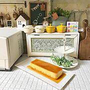 カフェ風インテリア/seria/キッチンカウンター/3コインズ♡/カフェ風/ニトリ…などのインテリア実例