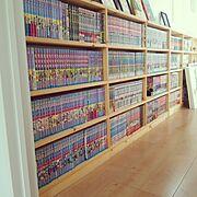 本棚/DIY/漫画/My Shelf…などのインテリア実例