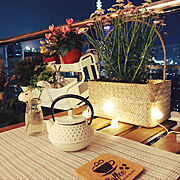 カフェ風/IKEA/観葉植物/照明/Overview…などのインテリア実例