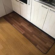 一人暮らし/ニトリ/キッチンマット/Kitchen…などのインテリア実例