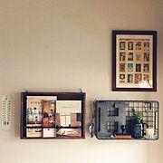 niko and…木箱/切手シール/アルファベットオブジェ/3coios/フェイク多肉…などのインテリア実例