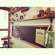 古道具/窓枠/珪藻土/板壁/JUNK/DIY…などのインテリア実例