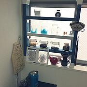 窓枠DIY/ハンドメイド/一人暮らし/1DK 賃貸/DIY/ダイソー…などのインテリア実例
