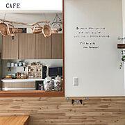 壁紙シール/白×木/シンプルに暮らしたい/いつもいいねありがとうございます♡/ナチュラル…などのインテリア実例