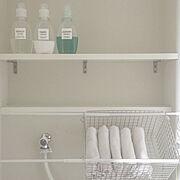 Bathroom/無印良品/一人暮らし/100均/ランドリーバスケット/ランドリー…などのインテリア実例