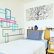模様替え/marimekko/爽やか/これさえあれば、わたしの部屋/北欧インテリア…などのインテリア実例
