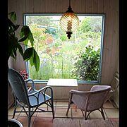 玄関/入口/いつもいる場所/ガーデン/テラコッタタイル/アンティーク…などのインテリア実例