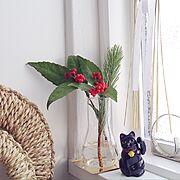 ソーラー招き猫/シンプル /輪締め/お正月/Kitchen…などのインテリア実例