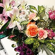 玄関ディスプレイ☆/緑のある暮らし/花のある暮らし/My Shelf…などのインテリア実例