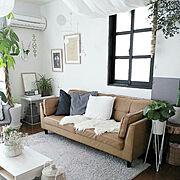 DIY/ナチュラルインテリア/シンプルな暮らし/リビングルーム/リビングインテリア/リビングテーブル…などのインテリア実例