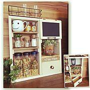 雑貨/ナチュラル/木製BOX/観葉植物/カフェ風/ハンドメイド…などのインテリア実例