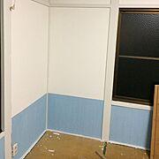 腰壁 ベニア板/漆喰塗り壁/和室を洋室に /ネイルサロン/腰壁風/漆喰壁…などのインテリア実例