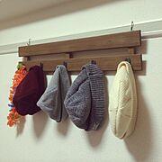 DIY/ニット帽/フック/すのこ/On Walls…などのインテリア実例