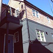 ブルックリン/木製玄関ドア/papamamanhouse/パパママハウスオーナー宅/パパママハウス…などのインテリア実例