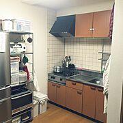 無印良品/格安/業務用コンロ/ユニットシェルフ/無水鍋/Kitchen…などのインテリア実例