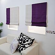 窓/ツートンカラー/ツートン/シェードカーテン/ロールカーテン/シェード…などのインテリア実例