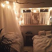 IKEA/寝室/流木照明/ホワイトインテリア/海外風インテリア/BOHO…などのインテリア実例