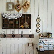 板壁DIY/ホワイトインテリア/板壁/インスタ➡subahotaru/インスタやってます♡…などのインテリア実例