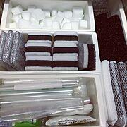 キッチン/キッチン収納/シンプルが好き/シンプル/白黒/モノトーン…などのインテリア実例