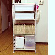 無印良品 棚/かご/ユニットシェルフ/無印良品/My Shelf…などのインテリア実例