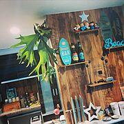 壁紙屋本舗/海を感じたい/ビーチハウス風/RELAX/西海岸/青色が好き…などのインテリア実例