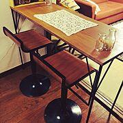リサイクル/昭和な生活/レトロなもの達/DIY/My Desk…などのインテリア実例