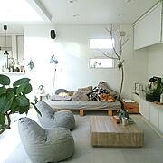 Lounge/アクタス/リビングベッド/テレビボード/アクアリウム/白い壁…などのインテリア実例