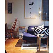 北欧インテリア/無垢材/イデー/ファブリックパネル/IKEA/一戸建て…などのインテリア実例