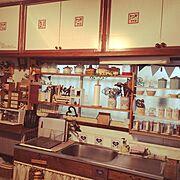 ナチュラルキッチン/昭和なキッチン…/すのこリメイク/ナチュラルキッキン/カラーボックス 収納…などのインテリア実例