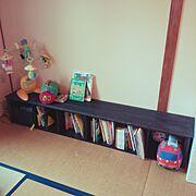 団地DIY/カラーボックス/絵本/DIY/山善収納部/Bedroom…などのインテリア実例