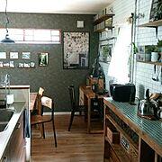 壁紙屋本舗/ブログよかったら見てみて下さい♩/IG⇨maca_home/塩ビ管DIY…などのインテリア実例