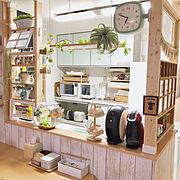 北欧ナチュラル/ナチュラル/Kitchen/カフェ風/カフェ風インテリア/ディアウォール…などのインテリア実例
