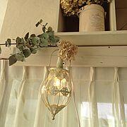 ユーカリドライ/可愛いライト/DIY棚/DIYカーテンボックス/On Walls…などのインテリア実例