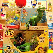 エイリアン/RC/バズライトイヤー/トイストーリー/コレクション/おもちゃ…などのインテリア実例