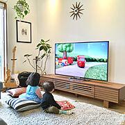 こどもと暮らす。/テレビボード/イベント参加/ネットで購入/Lounge…などのインテリア実例