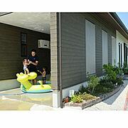 暑さ対策/植物のある暮らし/落ち着く空間/カフェ風インテリア/エクステリア/車庫…などのインテリア実例