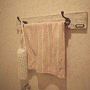 消臭スプレーボトルカバー/タオル掛け/Bathroom…などのインテリア実例