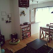 RC兵庫支部/IKEA/セリア/ブックシェルフ/端材DIY!/本棚DIY…などのインテリア実例