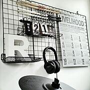 ドラムスティックのインテリア実例写真