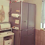 冷蔵庫/HITACHI/Kitchen…などのインテリア実例