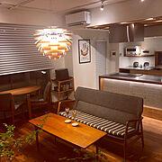 Lounge/マンション/シンプル/ハンズデザイン一級建築士事務所/ポスター…などのインテリア実例