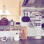 Kitchen/ダイソー/カフェ風/モノクロ/ナチュラル/モノトーン…などに関連する他の写真