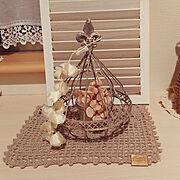 作家さんの作品/momokasanちゃんの編み編み/台風/roseちゃんのミニルーバー/My Desk…などのインテリア実例