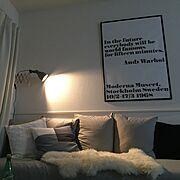 無印良品/Andy Warhol/DIY/アートをインテリアに取り入れたい/シンプルモダン…などのインテリア実例