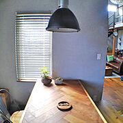 アウトドア/ペンダントライト/なべしき/ダイニングテーブル/寄せ植え/男前…などのインテリア実例